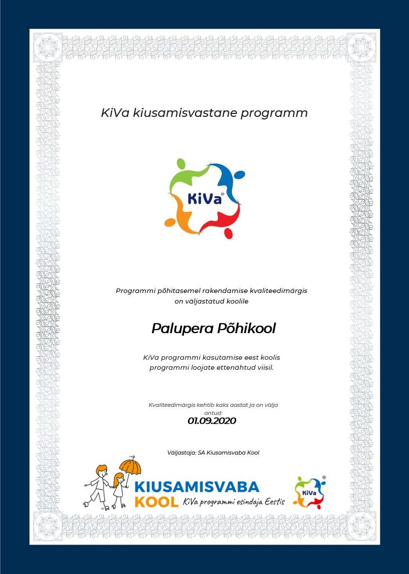 Kiusamisvaba kooli sertifikaat
