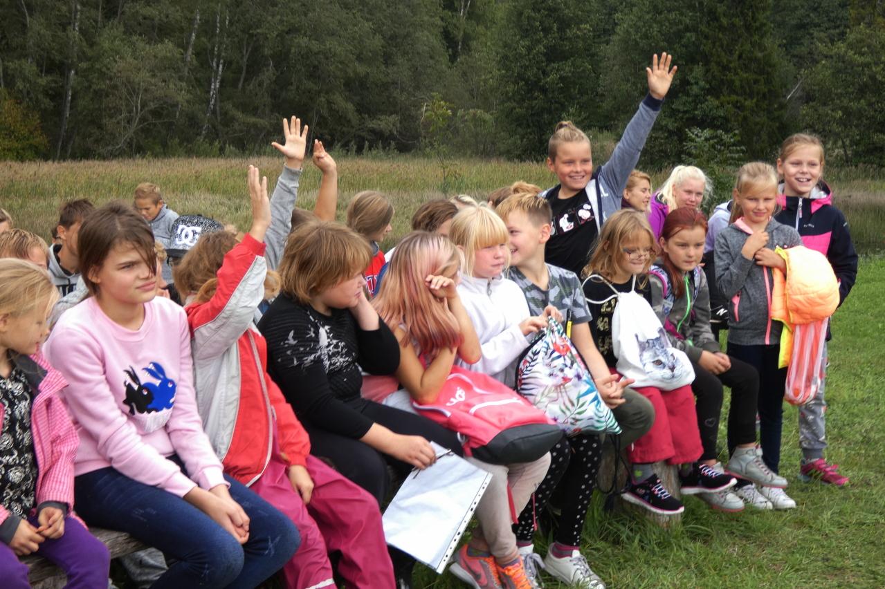 Spordinädala tähistamine orienteerumisega Lutsu talus