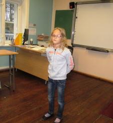 """Maakondliku 1-4. klass õpilaste luulekonkursi """"Minu pere ja muud loomad"""" koolisisene voor, 12.11"""