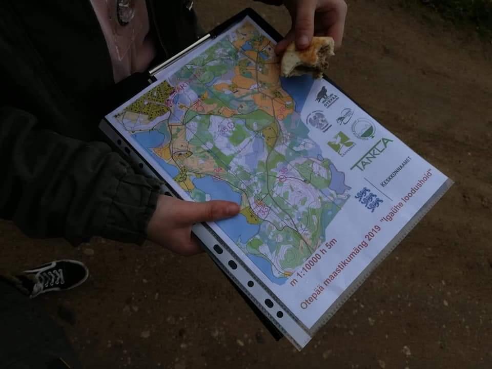 5–7. kl võiskonnad Otepää loodusmaja maastikumängul-orienteerumisvõistlusel