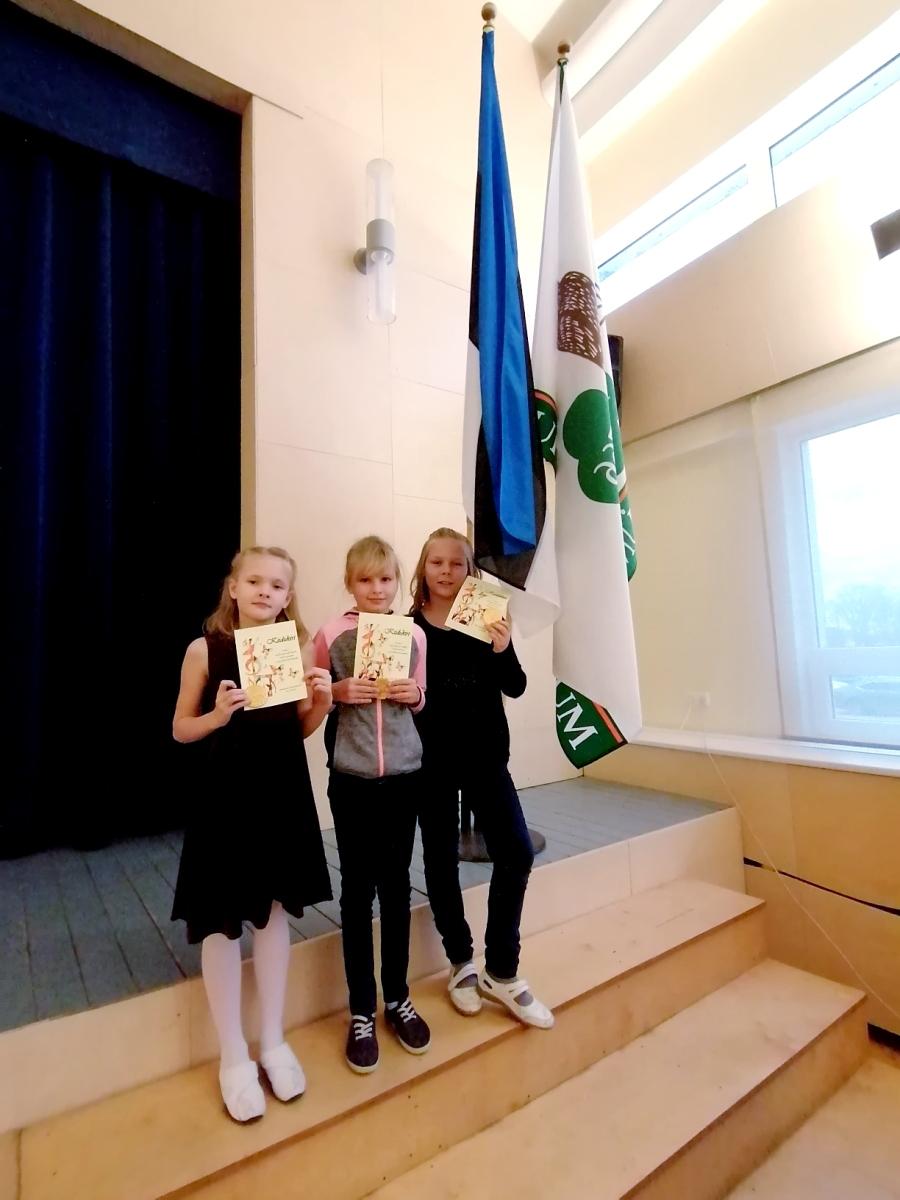 Meie kooli esindasid Lenne, Kätlin ja Lisandra